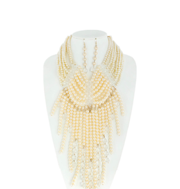 NECKLACE SET-PEARL MULTISTRAND