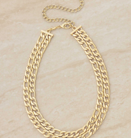NECKLACE-CHAIN, DBL LINKED GOLD