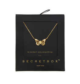 NECKLACE-GOLD DIPPED BUTTERFLY