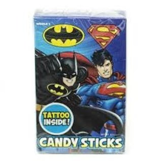 www.RocketFizzLancasterCA.com Batman & Superman Stick & Tatoo