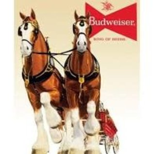 """Novelty  Metal Tin Sign 12.5""""Wx16""""H Bud Clydesdale Team Novelty Tin Sign"""