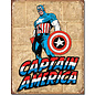 "Novelty  Metal Tin Sign 12.5""Wx16""H Captain America Retro Panels Novelty Tin Sign"