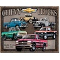 """Novelty  Metal Tin Sign 12.5""""Wx16""""H Chevy Truck Tribute Novelty Tin Sign"""