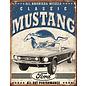 """Novelty  Metal Tin Sign 12.5""""Wx16""""H Classic Mustang Novelty Tin Sign"""