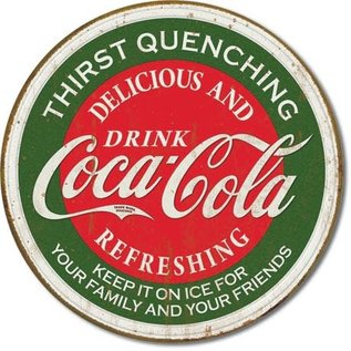 """Novelty  Metal Tin Sign 12.5""""Wx16""""H Coke - Thirst Quenching Novelty Tin Sign"""