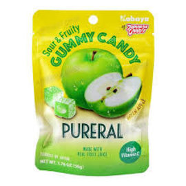 Asian Food Grocer Kabaya Pureral sour and fruity apple gummy