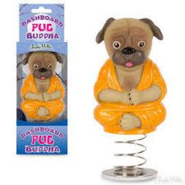 Toys of Rocket Fizz Lancaster Dashboard Pug Buddha
