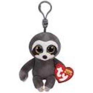 Ty Inc. Beanie Baby Dangler Grey Sloth Clip