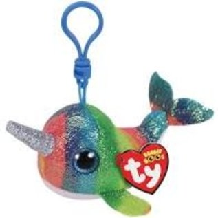 Ty Inc. Beanie Baby Nori Narwhal Clip
