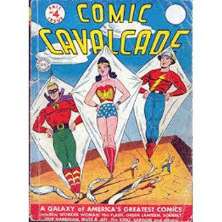 """Novelty  Metal Tin Sign 12.5""""Wx16""""H Comic Print - Comic Cavalcade #4 September 1943 Novelty Tin Sign"""