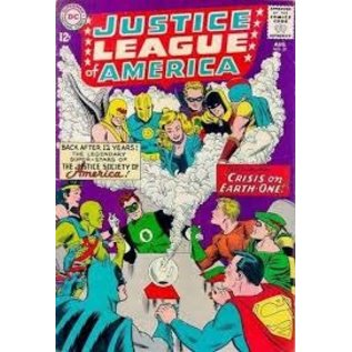 """Novelty  Metal Tin Sign 12.5""""Wx16""""H Comic Print - Justice League merica #21 Aof August 1963 Novelty Tin Sign"""