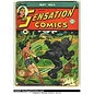 """Novelty  Metal Tin Sign 12.5""""Wx16""""H Comic Print - Sensation Comics #5 May 1942 Novelty Tin Sign"""