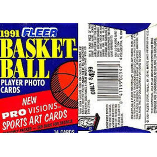 1991-92 Fleer Basketball Series 1 SEALED PACK BUSTINA PACCHETTO
