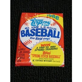 Collectible Cards 1988-Topps-Baseball-Gum-Wax-Pack Cards