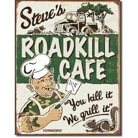 "Novelty  Metal Tin Sign 12.5""Wx16""H Schonberg - Steve's Cafe Novelty Tin Sign"