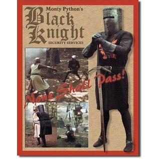 """Novelty  Metal Tin Sign 12.5""""Wx16""""H Black Knight Security Novelty Tin Sign"""
