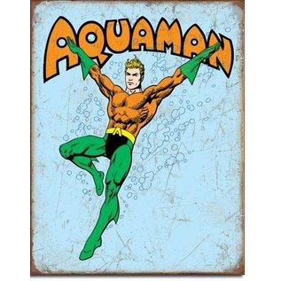 """Novelty  Metal Tin Sign 12.5""""Wx16""""H Aquaman Retro Novelty Tin Sign"""