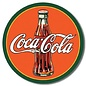 "Novelty  Metal Tin Sign 12.5""Wx16""H COKE - Round 30's Bottle & Logo Novelty Tin Sign"