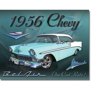 "Novelty  Metal Tin Sign 12.5""Wx16""H Chevy 1956 Bel Air Novelty Tin Sign"
