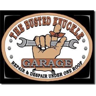 "Novelty  Metal Tin Sign 12.5""Wx16""H Busted Knuckle Garage Novelty Tin Sign"