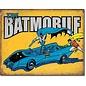 """Novelty  Metal Tin Sign 12.5""""Wx16""""H Batman The Batmobile Novelty Tin Sign"""