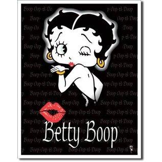 "Novelty  Metal Tin Sign 12.5""Wx16""H Betty Boop (Kiss) Novelty Tin Sign"