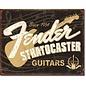 "Novelty  Metal Tin Sign 12.5""Wx16""H Fender Stratocaster 60th Novelty Tin Sign"