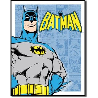 "Novelty  Metal Tin Sign 12.5""Wx16""H Batman - Retro Panels Novelty Tin Sign"