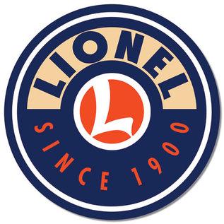 "Novelty  Metal Tin Sign 12.5""Wx16""H Lionel Logo Round Novelty Tin Sign"