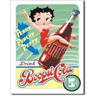 "Novelty  Metal Tin Sign 12.5""Wx16""H Boopsie Cola Novelty Tin Sign"