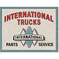 "Novelty  Metal Tin Sign 12.5""Wx16""H International Trucks - P&S Novelty Tin Sign"