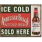 "Novelty  Metal Tin Sign 12.5""Wx16""H Anheuser-Busch - Ice Cold Novelty Tin Sign"