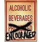 "Novelty  Metal Tin Sign 12.5""Wx16""H Alcoholic Beverages Novelty Tin Sign"