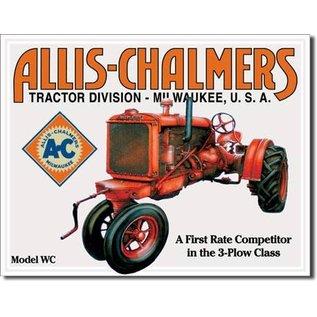 "Novelty  Metal Tin Sign 12.5""Wx16""H Allis Chalmers - Model U Novelty Tin Sign"