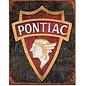 """Novelty  Metal Tin Sign 12.5""""Wx16""""H 1930 Pontiac Logo Novelty Tin Sign"""