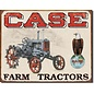 """Novelty  Metal Tin Sign 12.5""""Wx16""""H Case Tractor - CC High Clearance Novelty Tin Sign"""