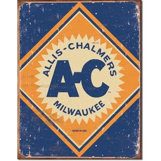 "Novelty  Metal Tin Sign 12.5""Wx16""H Allis Chalmers Logo Novelty Tin Sign"