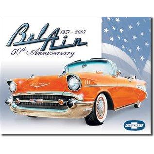 "Novelty  Metal Tin Sign 12.5""Wx16""H Bel Air - 50th Anniversary Novelty Tin Sign"