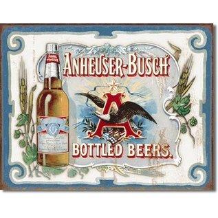 "Novelty  Metal Tin Sign 12.5""Wx16""H Anheuser Busch - Bottled Beers Novelty Tin Sign"