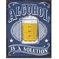 """Novelty  Metal Tin Sign 12.5""""Wx16""""H Alcohol - Solution Novelty Tin Sign"""