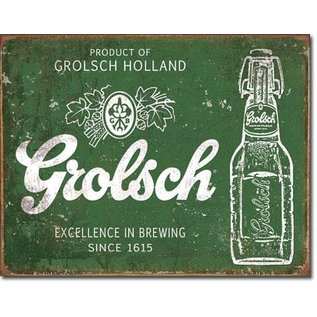 "Novelty  Metal Tin Sign 12.5""Wx16""H Grolsch Beer - Excellence Novelty Tin Sign"