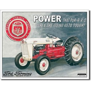 """Novelty  Metal Tin Sign 12.5""""Wx16""""H FORD Jubilee Novelty Tin Sign"""