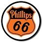 "Novelty  Metal Tin Sign 12.5""Wx16""H Phillips 66 Shield Novelty Tin Sign"