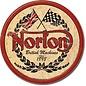"""Novelty  Metal Tin Sign 12.5""""Wx16""""H Norton - Logo Round Novelty Tin Sign"""