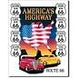 "Novelty  Metal Tin Sign 12.5""Wx16""H America's Highway Novelty Tin Sign"