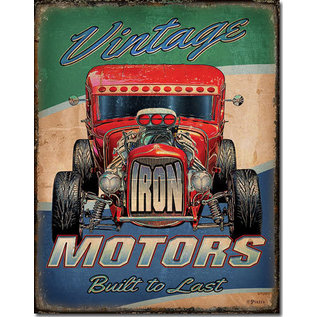 "Novelty  Metal Tin Sign 12.5""Wx16""H Vintage Motors Novelty Tin Sign"