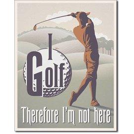 """Novelty  Metal Tin Sign 12.5""""Wx16""""H I Golf Novelty Tin Sign"""