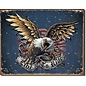 """Novelty  Metal Tin Sign 12.5""""Wx16""""H Live to Ride - Eagle Novelty Tin Sign"""