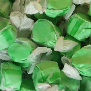 www.RocketFizzLancasterCA.com Green Apple Salt Water Taffy ( 7 Taffies for $1.00)