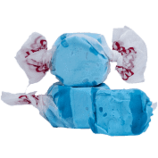 www.RocketFizzLancasterCA.com Blue Raspberry Salt Water Taffy ( 7 Taffies for $1.00)